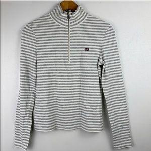 Polo Ralph Lauren Gray Striped Long Sleeve Top S